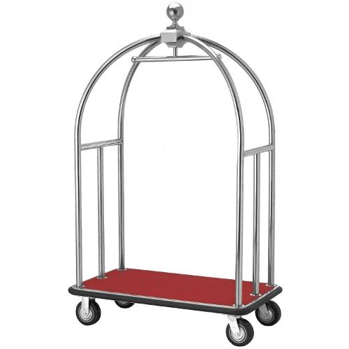 Cărucior bagaje RED - colivie argintie