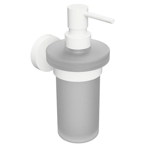 White - Dispenser săpun cu prindere în perete, 230 ml
