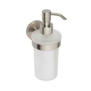 Neo - Dispenser pentru săpun, inox şlefuit şi sticlă mată,  250 ml
