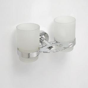 Omega - Suport dublu pentru pahare (cu pahare) și suport pentru periuțe de dinți
