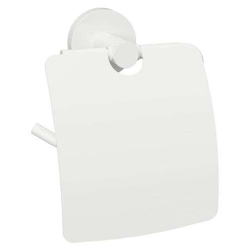 White - Suport cu capac pentru hârtia igienică