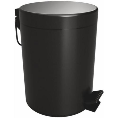 Coș de gunoi negru cu închidere lentă