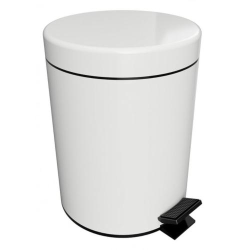 White - Coș gunoi cu capac, 5 litri