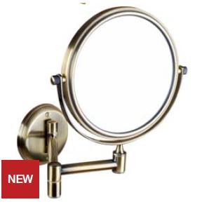 Retro - oglindă cosmetică (bronz)