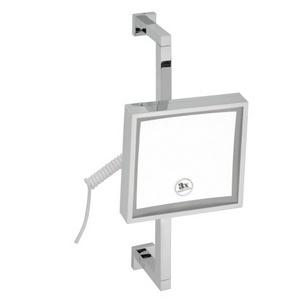 Oglindă cosmetică fără LED, pătrată