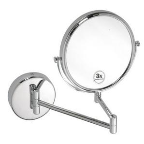 Oglindă cosmetică cu braţ dublu, rotundă