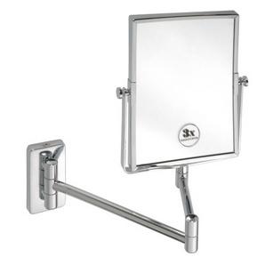 Oglindă cosmetică cu braţ dublu, rectangulară