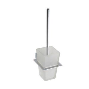 Plaza - Suport perie de WC cu vas din sticlă