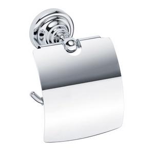 Retro - Suport cu capac pentru hârtia igienică - Chrom