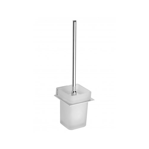 NIKI - Suport din sticlă și perie WC - cu prindere în perete
