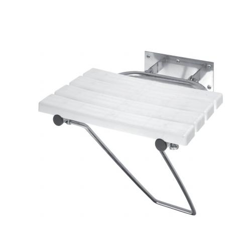Help - Scaun reversibil pentru duș, cu picior de susținere