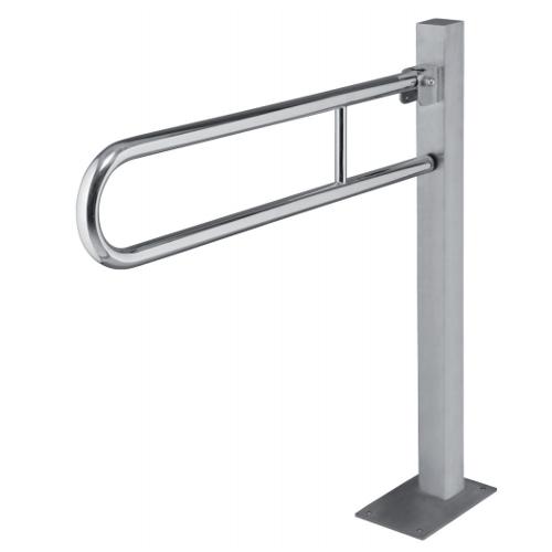 Help - Bară de sprijin reversibilă în formă de U, cu fixare în podea (813 mm)