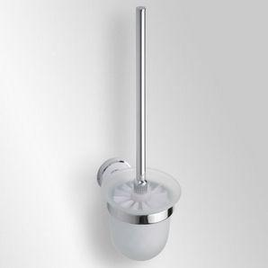 Trend-i - Perie pentru wc cu vas din sticlă (alb)