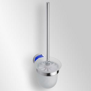 Trend-i - Perie pentru wc cu vas din sticlă (albastru)