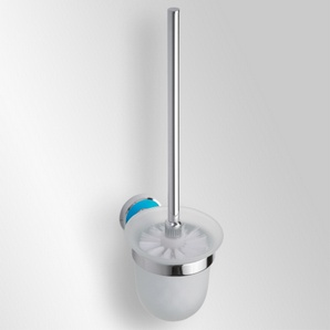 Trend-i - Perie pentru wc cu vas din sticlă (bleu)