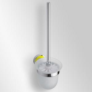 Trend-i - Perie pentru wc cu vas din sticlă (galben)