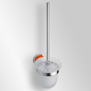 Trend-i - Perie pentru wc cu vas din sticlă (portocaliu)