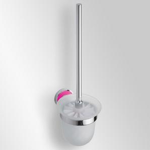 Trend-i - Perie pentru wc cu vas din sticlă (roz)