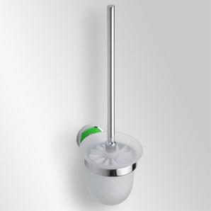 Trend-i - Perie pentru wc cu vas din sticlă (verde)