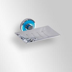 Trend-i - Savonieră dreptunghiulară cu suport de prindere bleu