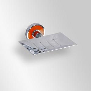 Trend-i - Savonieră dreptunghiulară cu suport de prindere portocaliu