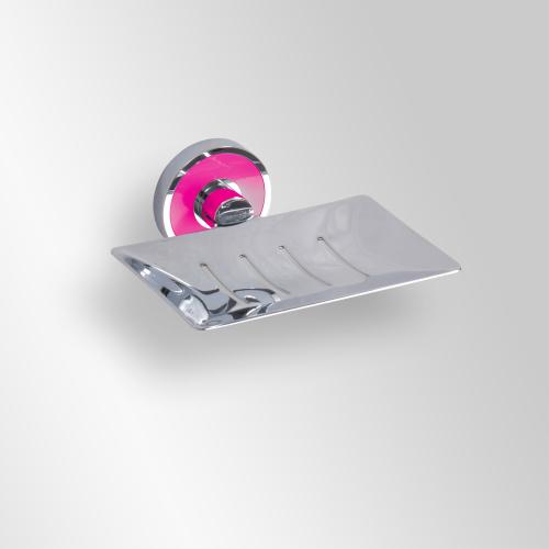 Trend-i - Savonieră dreptunghiulară cu suport de prindere roz