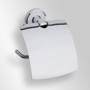 Trend-i - Suport cu capac pentru hârtia igienică (alb)