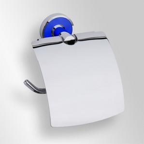 Trend-i - Suport cu capac pentru hârtia igienică (albastru)
