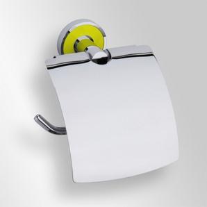 Trend-i - Suport cu capac pentru hârtia igienică (galben)