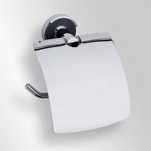 Trend-i - Suport cu capac pentru hârtia igienică (negru)