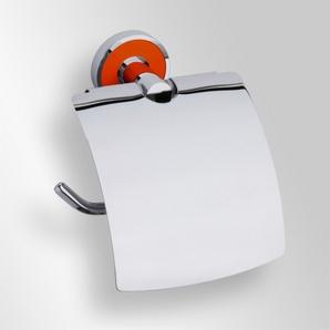Trend-i - Suport cu capac pentru hârtia igienică (portocaliu)