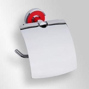 Trend-i - Suport cu capac pentru hârtia igienică (roşu)