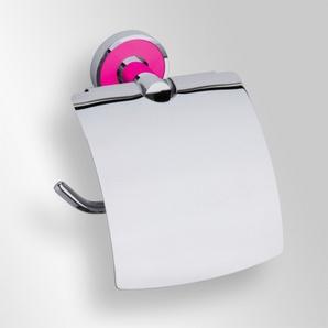 Trend-i - Suport cu capac pentru hârtia igienică (roz)