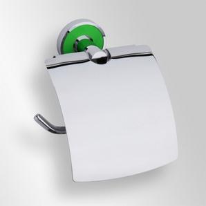 Trend-i - Suport cu capac pentru hârtia igienică (verde)