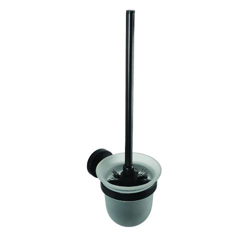 Dark - Suport pentru perie WC, cu recipient de sticlă