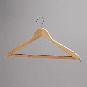 President Wooden Coat Hanger (Cu cârlig. Cromat.)
