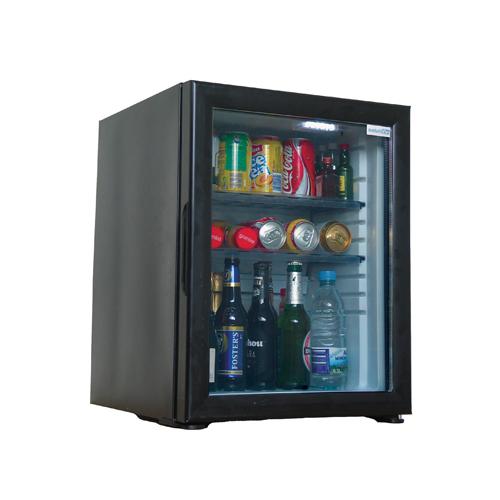 Minibar SOLUTION, cu ușă de sticlă (40 L)