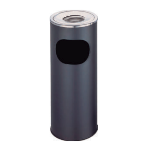 Coș gunoi cu scrumieră (negru)