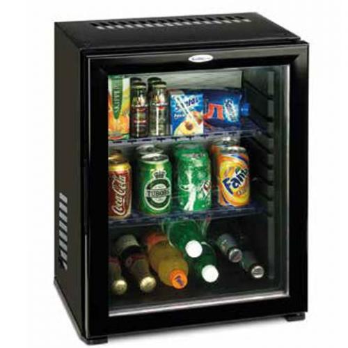 Minibar termoelectric 27 litri - ușă de sticlă